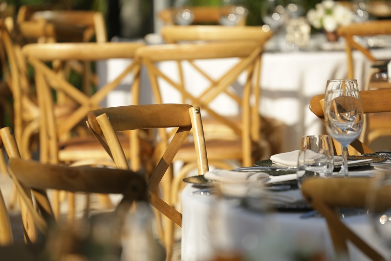 Natural Wooden Chairs for Outdoor Weddings Mexico Elena Damy Event Design