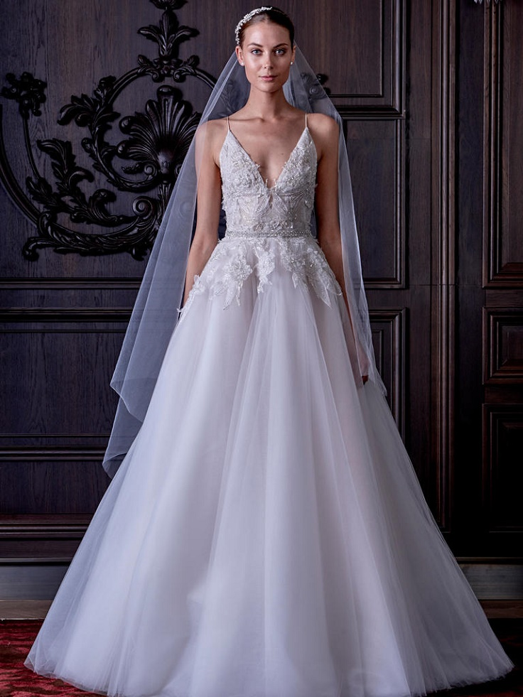 monique lhuillier 2016 full skirt bridal gowns tulle