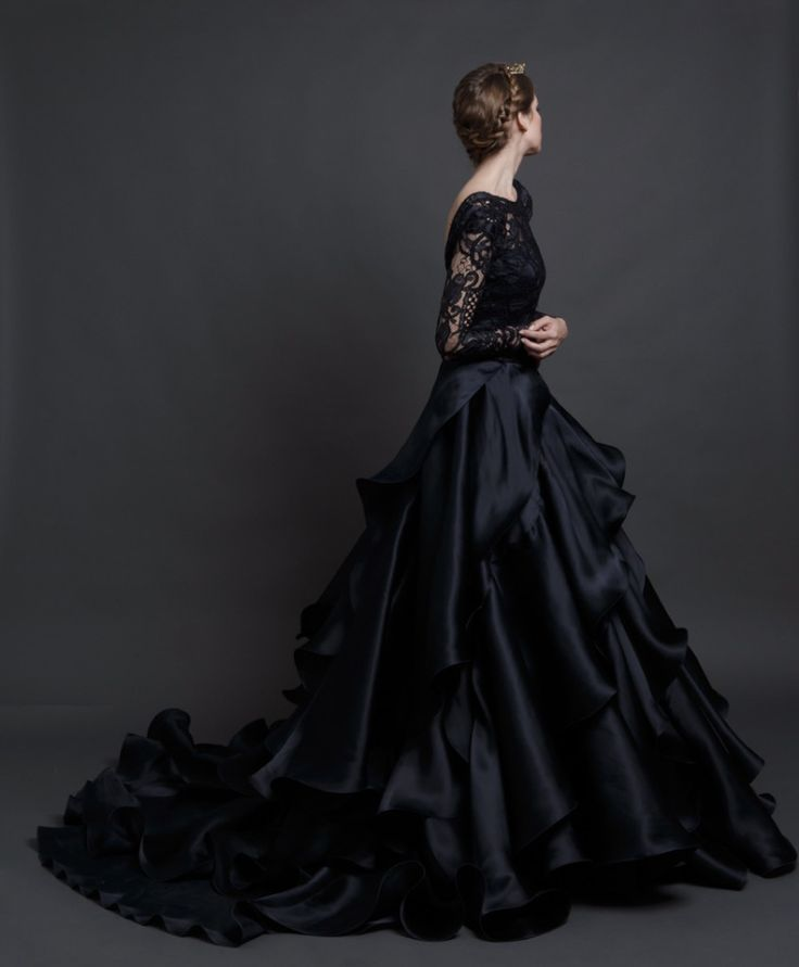 sarah nouri black flamenco wedding gown 2016