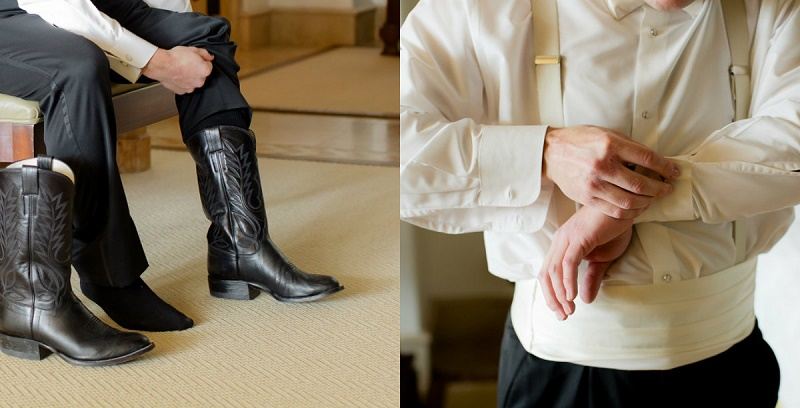 One & Only Palmilla Wedding Elena Damy Event Design - Sara Richardson Photography - groom wearing cowboy boots