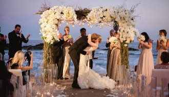 ceremony kiss beach weddings los cabos esperanza resort elena damy event design chris plus lynn photography