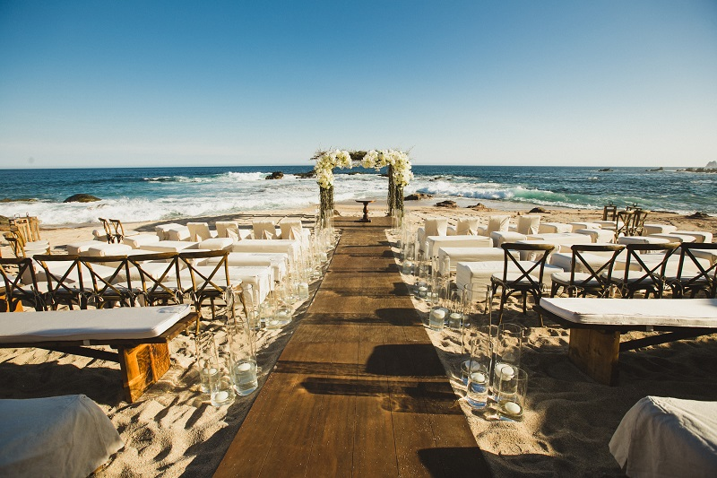 ceremony space beach weddings los cabos esperanza resort elena damy event design chris plus lynn photography