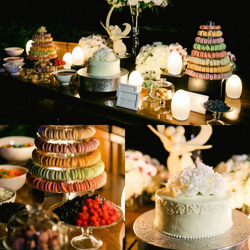 Elena Damy Dessert Bars Cabo Weddings Macarons Wedding Cakes Esperanza Resort Chris Plus Lynn Photography Elena Damy