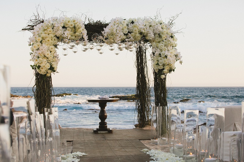 elegant wedding chuppahs on the beach mexico destination weddings elena damy floral design chris plus lynn photography