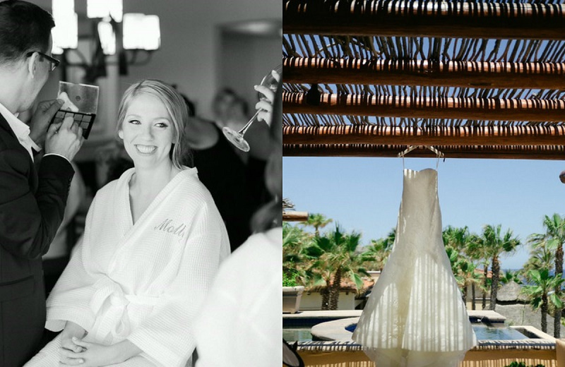 getting ready wedding day dressing luxury weddings los cabos elena damy chris pluys lynn esperanze resort