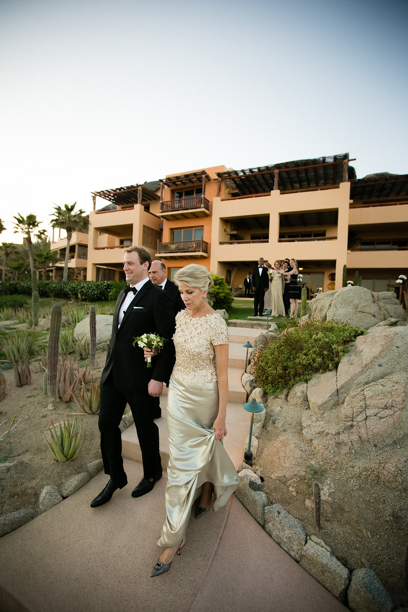 grooms processional beach weddings los cabos esperanza resort elena damy event design chris plus lynn photography