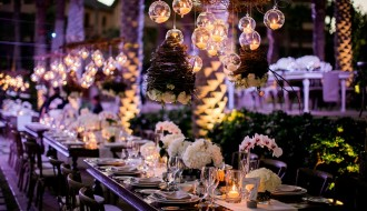 hanging candles long tables destination weddings los cabos elena damy floral design chris plus lynn