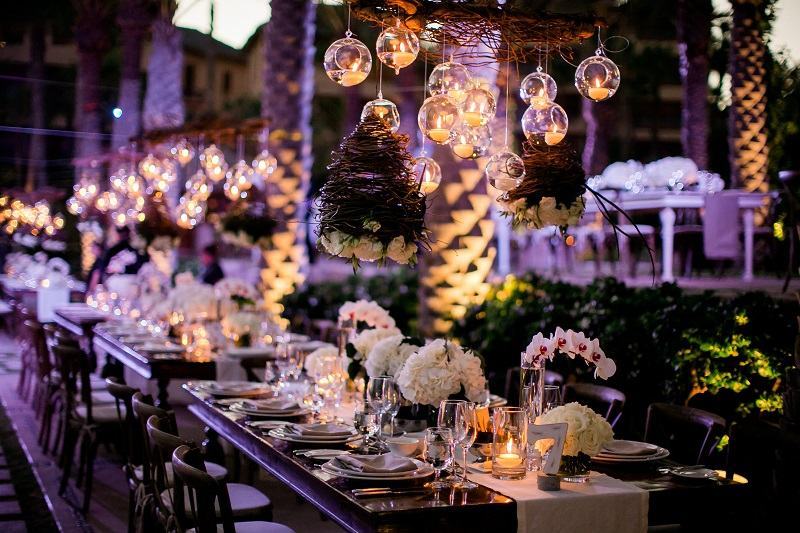 hanging candles long tables destination weddings los cabos elena damy floral design chris plus lynn