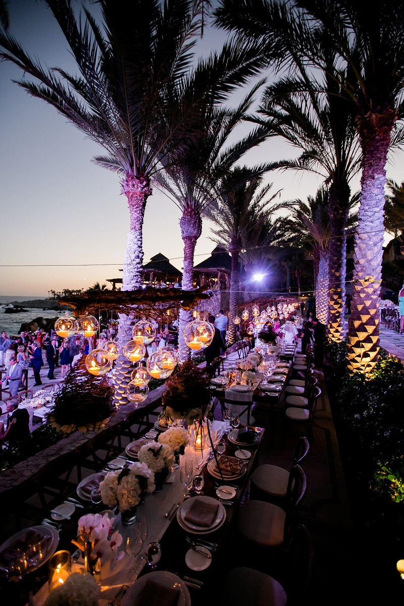 open air wedding reception beach weddings los cabos esperanza resort elena damy event design chris plus lynn photography