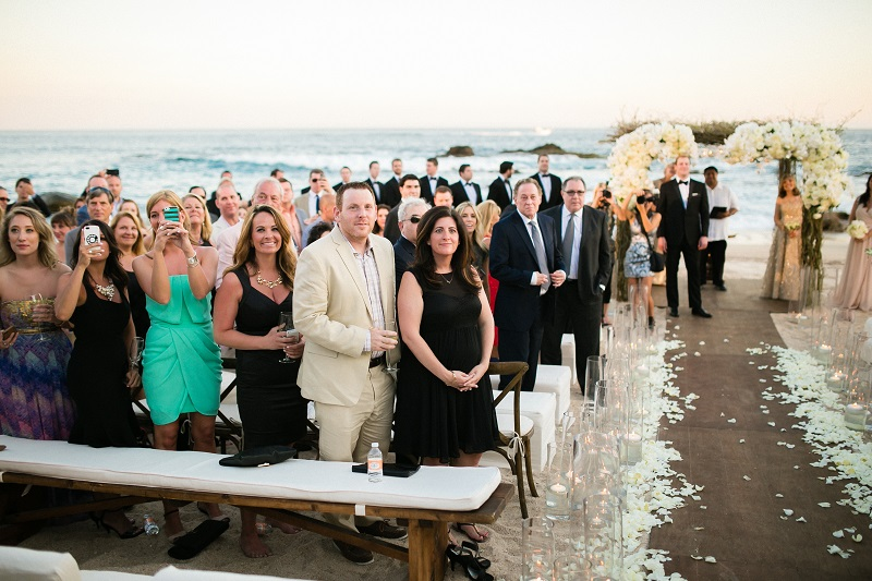 wedding guests beach weddings los cabos esperanza resort elena damy event design chris plus lynn photography