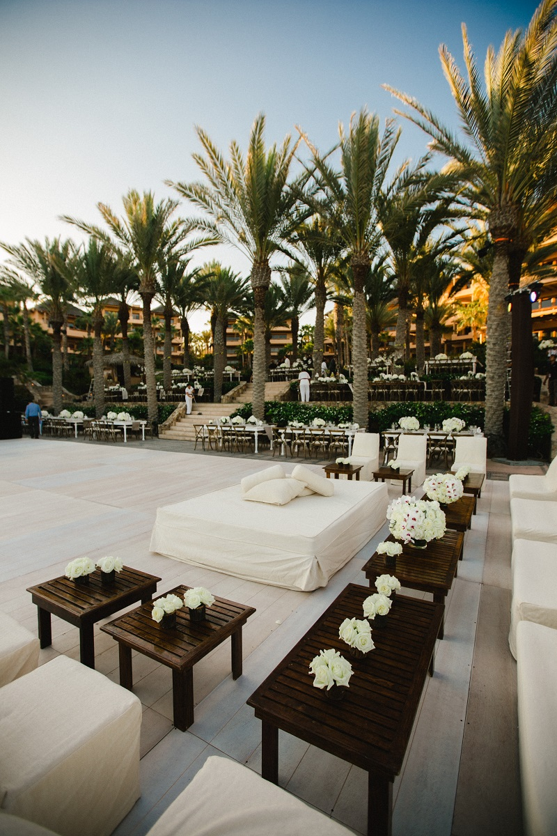 white lounge beach weddings los cabos esperanza resort elena damy event design chris plus lynn photography