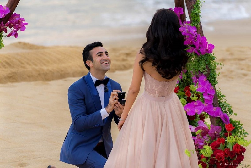 unforgettable wedding proposals on the beach destination weddings mexico elena damy floral and event design