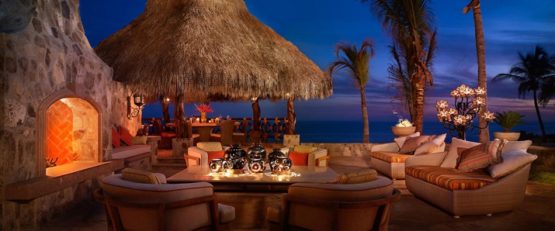 outdoor fireplaces luxury mexico beach resorts one and only palmilla