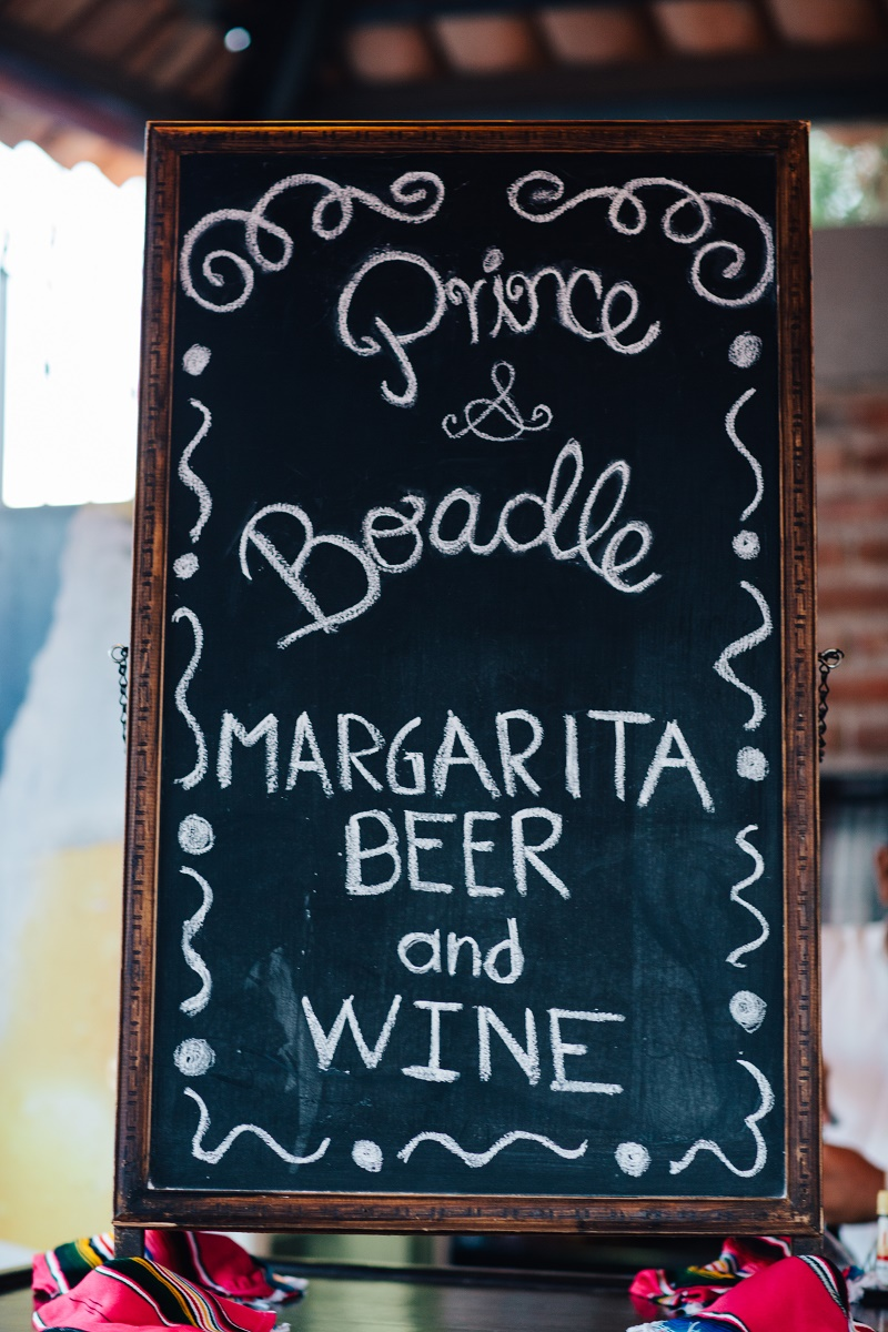 chalkboard sign cabo rehearsal dinner locations elena damy destination weddings lauren ross photography