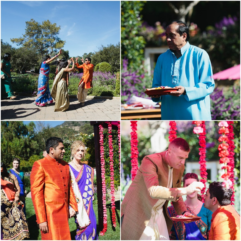 groom arrives hindu ceremony san ysidro weddings santa barbara indian wedding ceremony elena damy