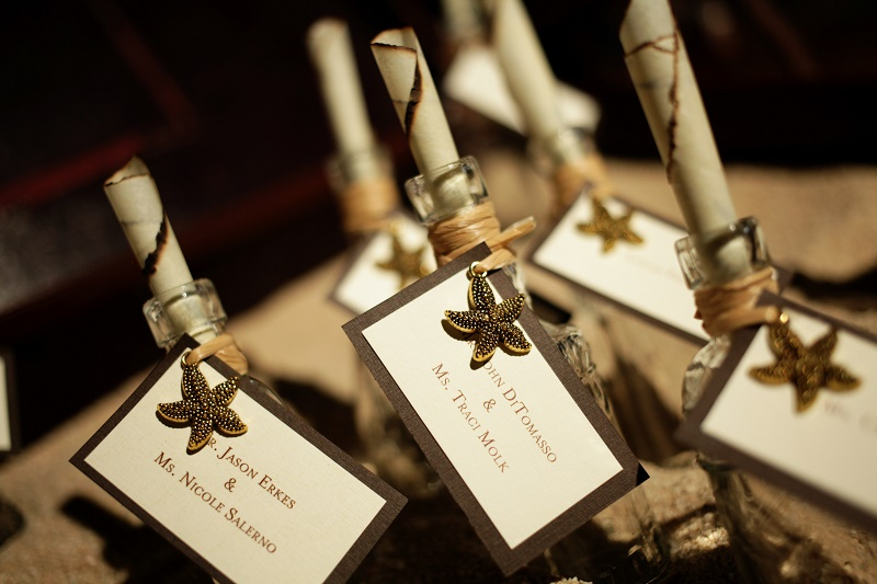 place card messages in a bottle wedding baja los cabos wedding planners elena damy chris plus lynn