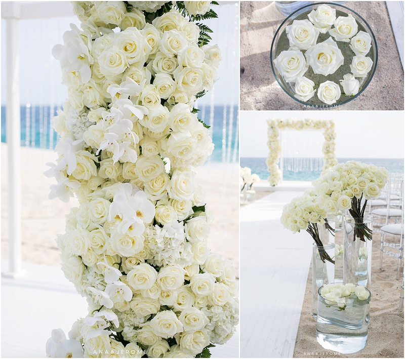 beach wedding flowers damy white wedding flowers weddings cabo 1587