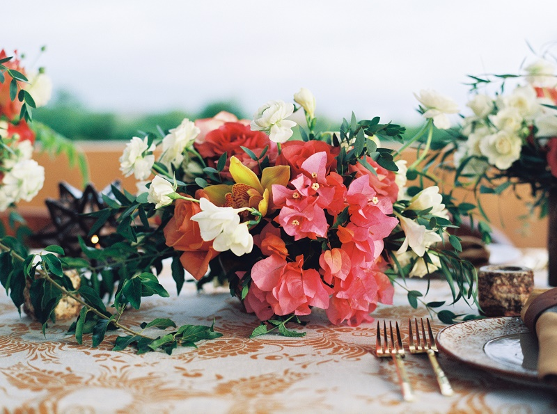 coral bougainvillea mexican wedding flowers elena damy destination wedding planners