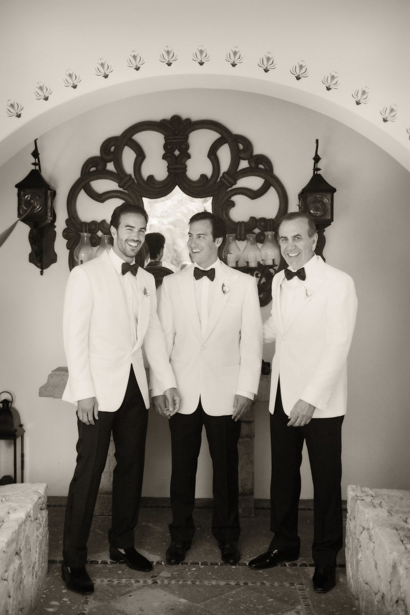 grooms in white jackets los cabos weddings elena damy destination weddings chris plus lynn photography
