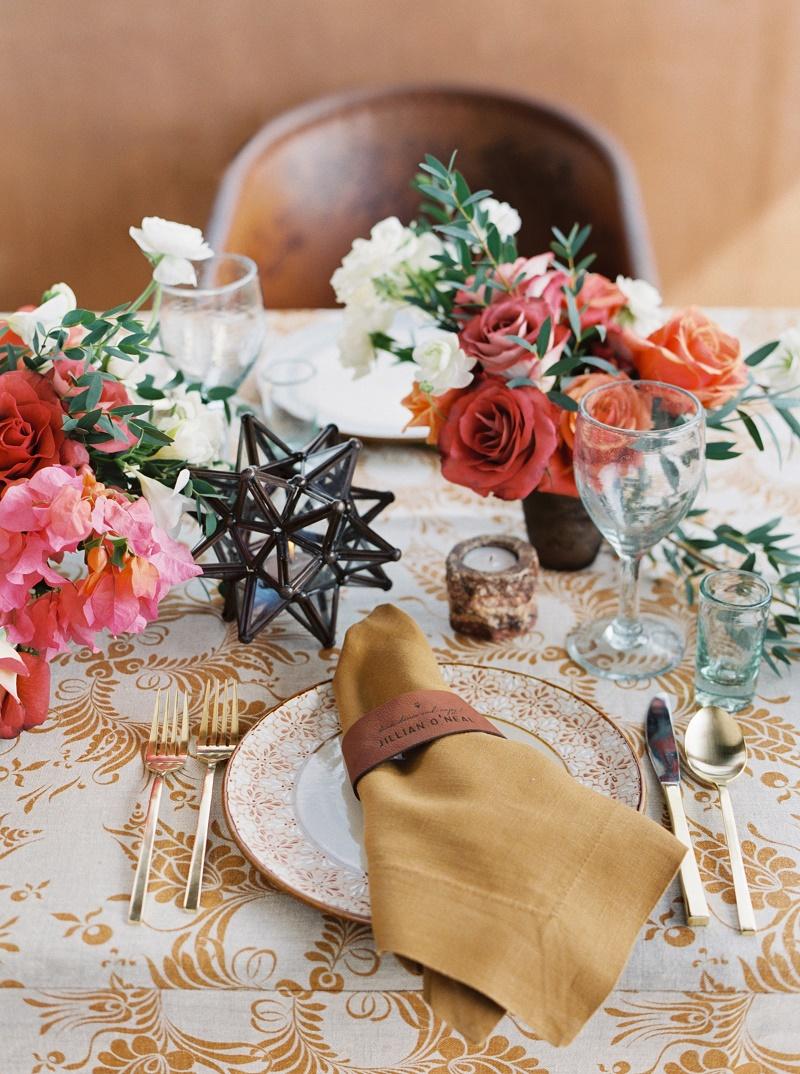 Elena Damy Mexican Wedding Flowers Colorful Centerpieces Baja