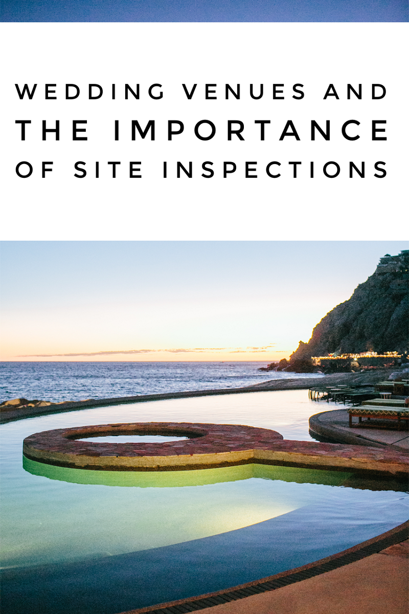 wedding venues and importance of site inspections