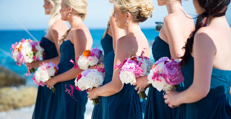 Cabo-Hotels-Esperanza-luxury-Resort-blue-bridesmaids-dresses-beach-weddings-los-cabos-elena-damy destination wedding planners