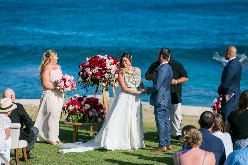 beach ceremony cabo del sol mexico weddings
