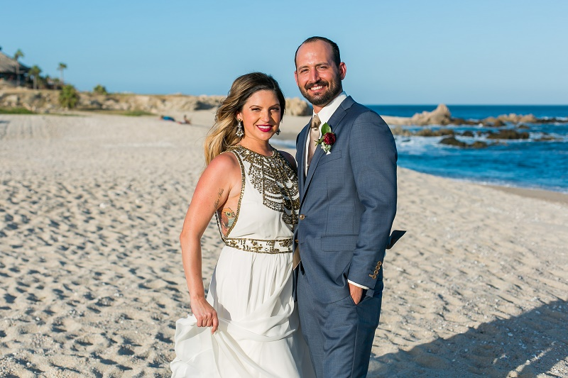 beach wedding photos cabo del sol 2
