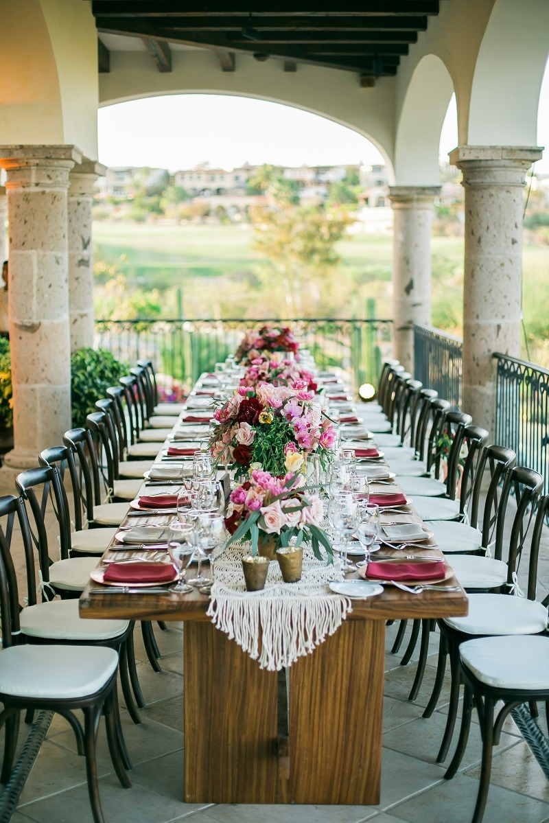 boho chic wedding reception elena damy