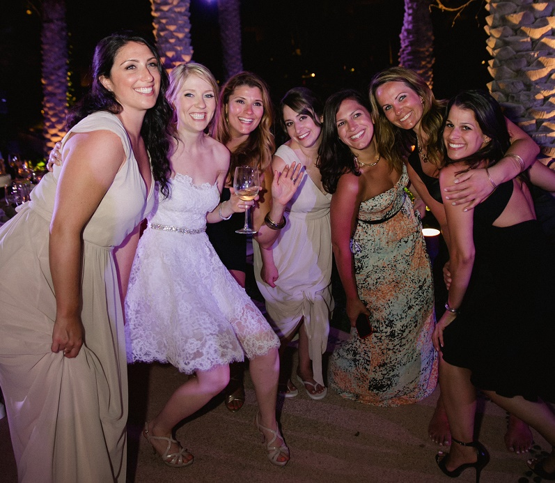 bridal party dancing after hours cabo wedding esperanza elena damy destination weddings mexico