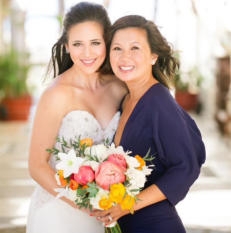 bride with her mother wedding photos elena damy destination weddings cabo san lucas mexico weddings chris plus lynn