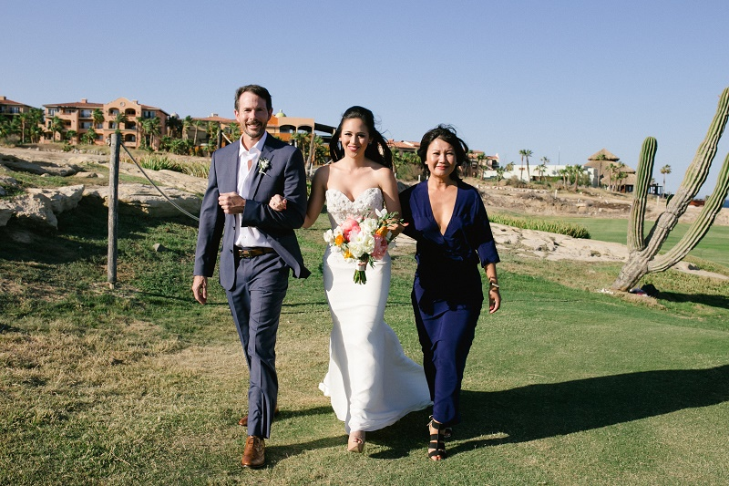 brides processional weddings at cabo del sol elena damy destination wedding planners mexico chris plus lynn photo