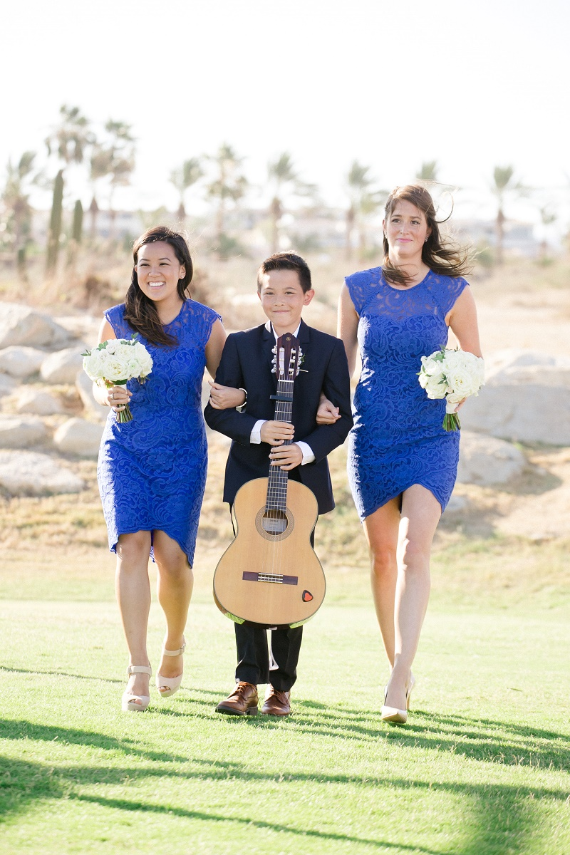 bridesmaids processional weddings at cabo del sol elena damy destination wedding planners mexico chris plus lynn photo