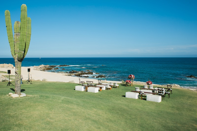ceremony on the lawn cabo del sol golf club beach weddings elena damy planners