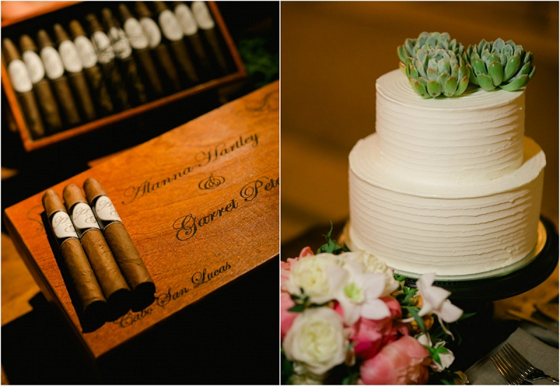 cigar roller for weddings cabo wedding cake with succulents elena damy wedding planners