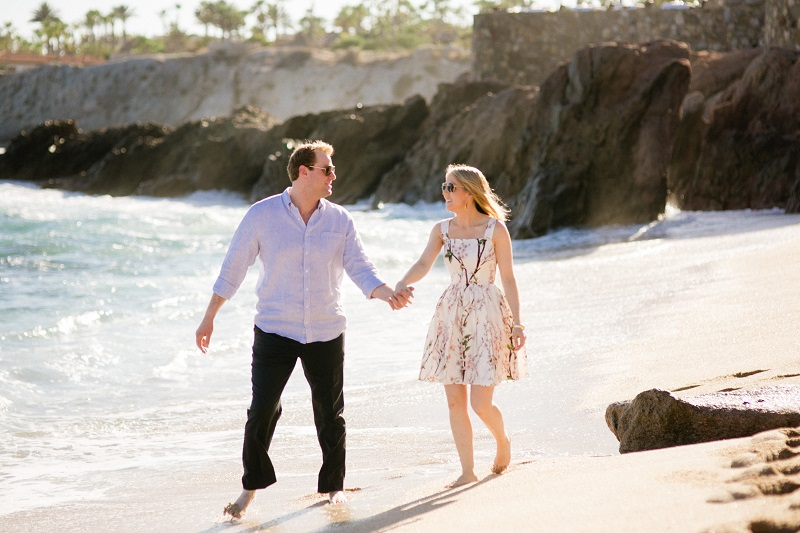 engagement photos on the beach cabo chris plus lynn destination weddings mexico elena damy event designers