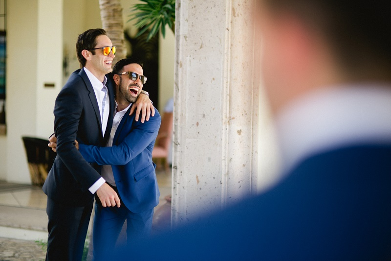 groom and groosmen candid photos weddings at cabo del sol elena damy destination wedding planners mexico chris plus lynn photo