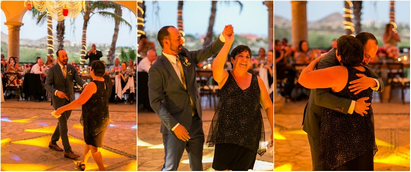 groom dancing with his mom cabo del sol elena damy wedding planners