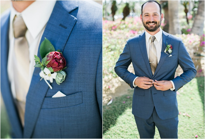 groom in blue suit cabo del sol weddings
