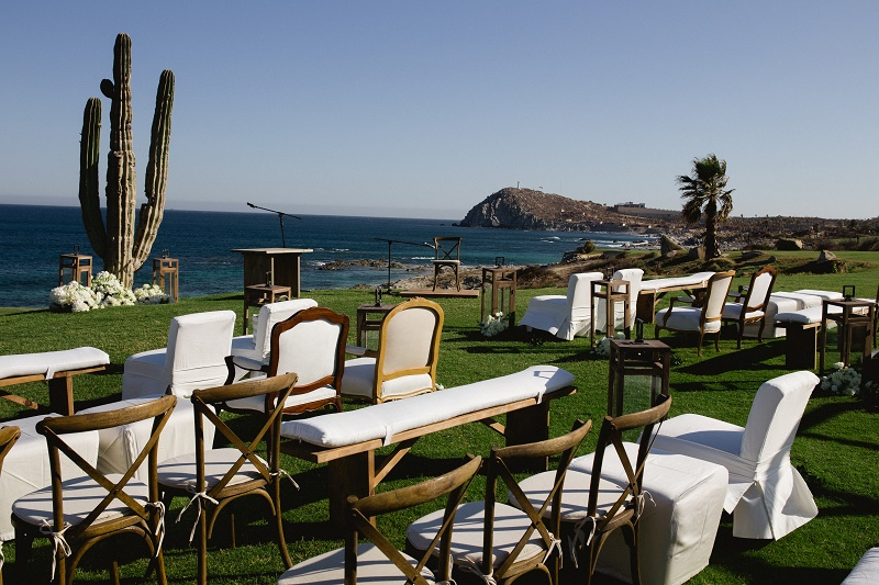 outdoor ceremony setting weddings at cabo del sol elena damy destination wedding planners mexico chris plus lynn photo