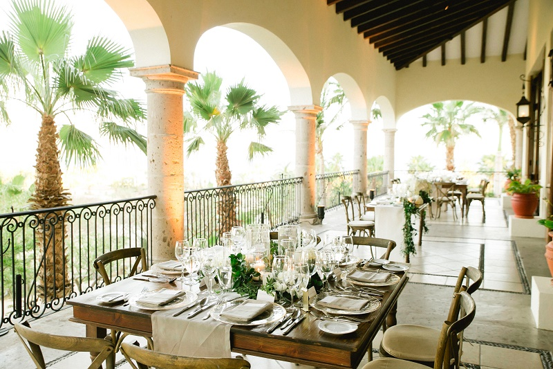 reception tables on the terrace weddings at cabo del sol elena damy destination wedding planners mexico chris plus lynn photo