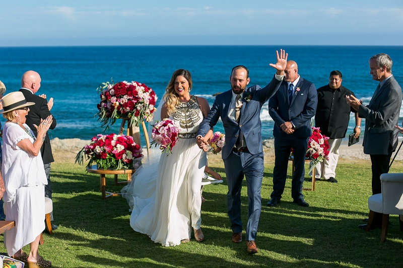 recessional beach weddings cabo del sol golf club elena damy