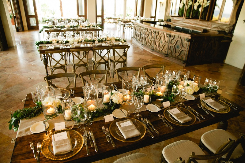 rectangular dinner tables weddings at cabo del sol elena damy destination wedding planners mexico chris plus lynn photo