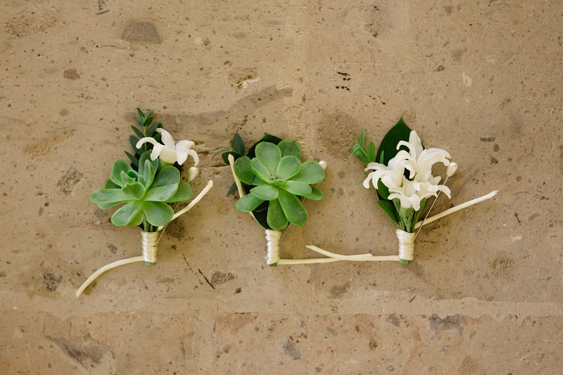 succulent boutonnieres weddings at cabo del sol elena damy destination wedding planners mexico chris plus lynn photo