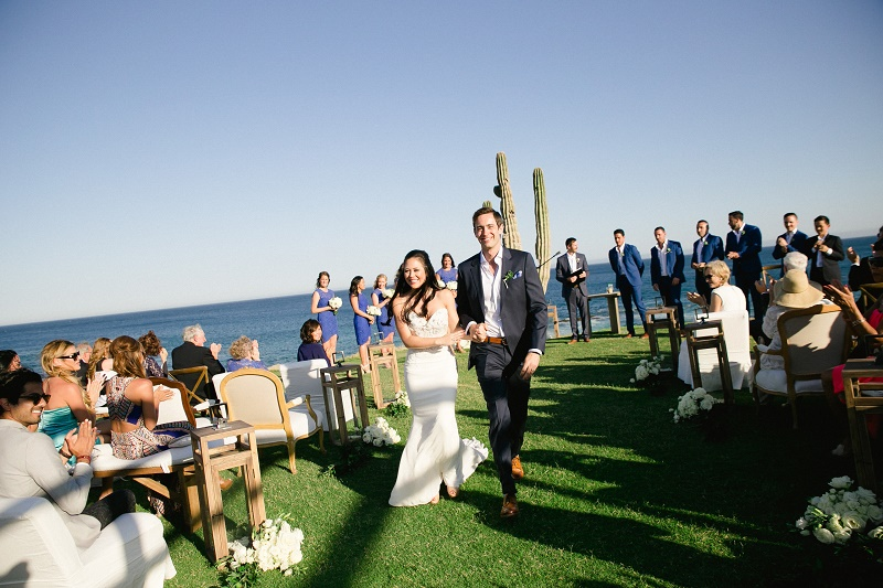 wedding recessional weddings at cabo del sol elena damy destination wedding planners mexico chris plus lynn photo