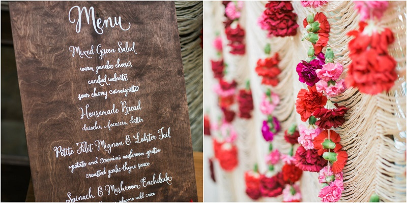 wooden menus macrame drapes cabo del sol weddings elena damy floral design