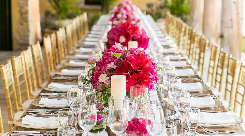 low pink floral arrangements destination weddings los cabos mexico elena damy wedding inspiration blog
