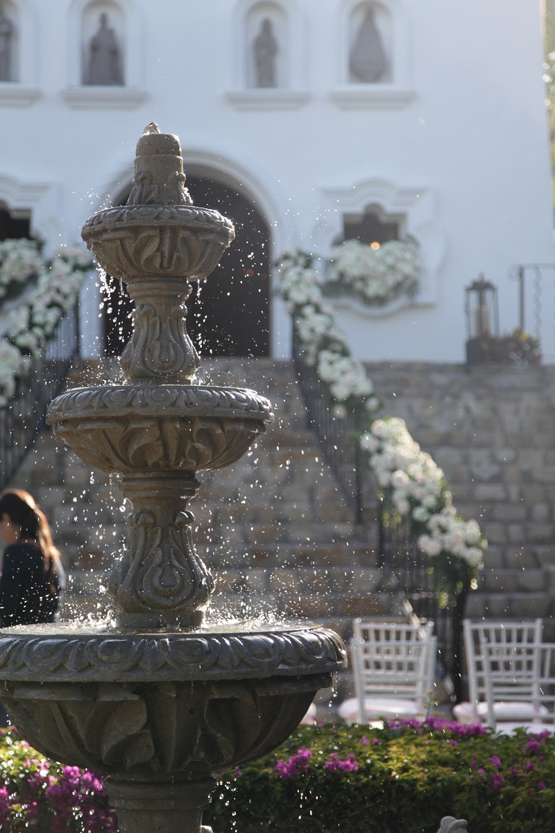 outdoor ceremony chapel steps Cabo Weddings One and Only Palmilla Elena Damy Event Design Cabo Chris Plus Lynn Photo