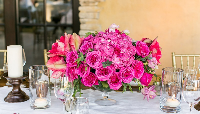 pink hydrangea flower arrangements for weddings elena damy floral design destination weddings mexico