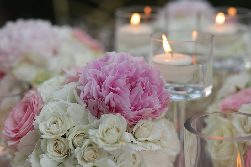 pink peonies white hydrangea floral centerpieces Cabo Weddings One and Only Palmilla Elena Damy Event Design Cabo Chris Plus Lynn Photo